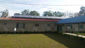 Die Solaranlage auf dem Dach der Krankenstation